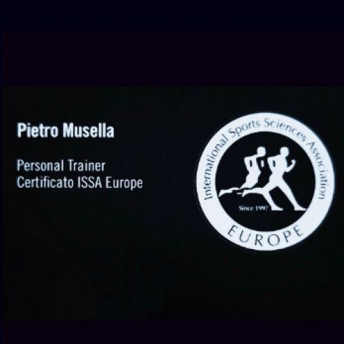 PIETRO MUSELLA personal trainer certificato ISSA Europe